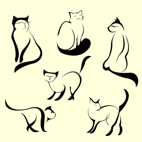 cats tattoo. Cat Tattoo Designs