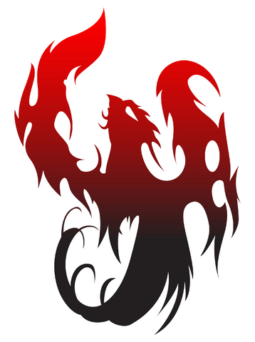 Designs will often make use of the symbol of fire, along with reds and