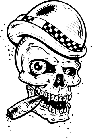 thumbs skull tattoo design 2 Skull Tattoo Designs