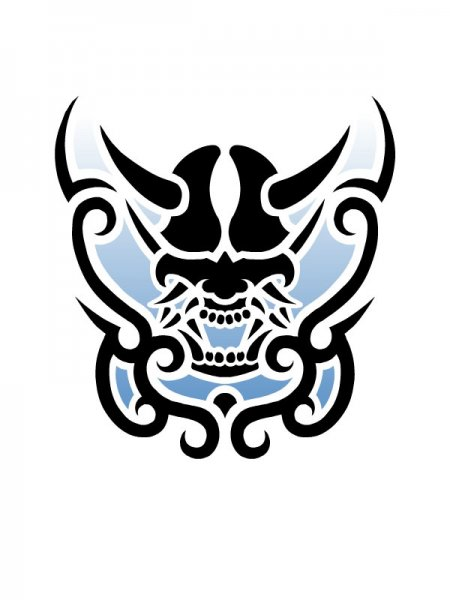 tribal_blue_devil