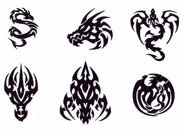 tribal_gothic_dragons