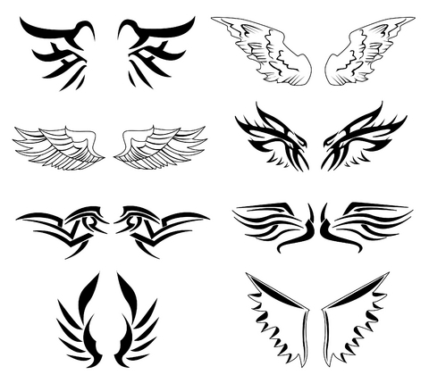 Tatto on Thumbs Wings Tattoo 4 Wing Tattoo Designs