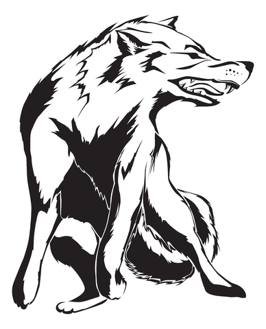 howling, and smaller tattoo designs may make use only of the wolf's head